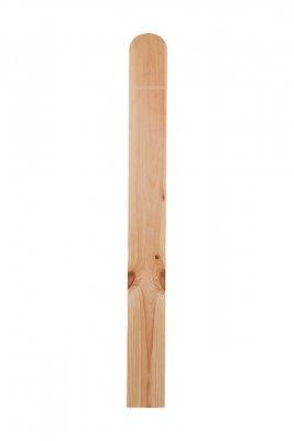 Borovi fenyő kerítés léc, párhuzamos oldal, kerekített  tető