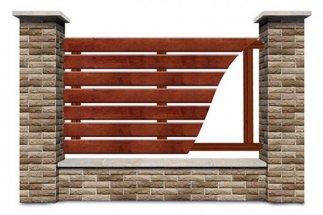 Vízszintes elrendezésű deszka kerítések - Borovi fenyő gyalult deszka